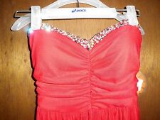 Womens Jus d'Orange Red Formal/Cocktail Strapless Long Dress Beautiful S NWT