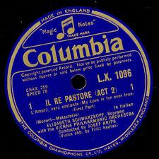 "ELISABETH SCHWARZKOPF -Soprano- ""Il Re Pastore"" L'amero, saro...  1&2      G2428"