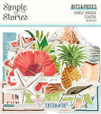 Simple Stories Simple Vintage Coastal Bits & Pieces Ephemera 58/pk Tropical
