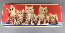 THORNE'S Toffee Candy Tin KITTENS CAT- EUC
