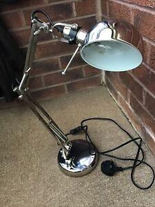 """CHROME ANGLE POISED DESK LAMP """" IKEA """""""