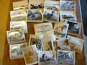 Lot Original WWII Official US Army Marshall Islands Offensive Photos Photographs