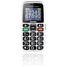 BRONDI AMICO UNICO CELLULARE GSM PER ANZIANI CON TASTI GRANDI DUAL SIM BIANCO