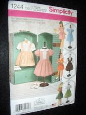 """6 Vintage Outfits 18"""" DOLL Simplicity 1244 Pattern Hernandez Fits American Girl"""