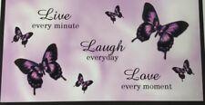 LIVE, LAUGH, LOVE LAVENDER BUTTERFLIES
