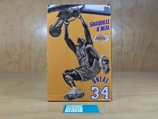 NBA LOS ANGELES LAKERS SHAQUILLE O'NEAL DUNKING DISPLAY FIGURINE GOLD 10IN BNIB