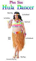 Plus Size Hula Dancer Costume Hula Skirt & Top Supersize 1x 2x 3x 4x 5x 6x 7x 8x