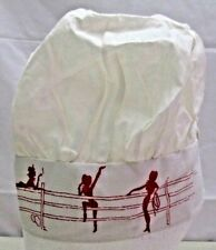 Vintage Chef Hat Western Rodeo Ladies Chefs Cook Cloth Red & White Ranch Cap