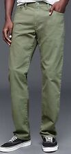 NWT GAP Stretch 1969 Broken Twill Straight Fit Jeans Pants. Size 34x30 Green
