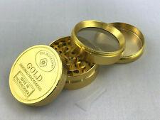 Gold Grinder Premium Gewürzmühle Metall 4-teilig Kräutermühle Tabak Mühle