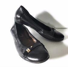 ATTILIO GIUSTI LEOMBRUNI AGL Size 7 BELLA Black Ballet Flats Shoes 37