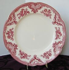 """JOHNSON BROTHERS EARTHENWARE RED OLD BRITAIN CASTLES ACCENT DINNER PLATE 10 1/2"""""""