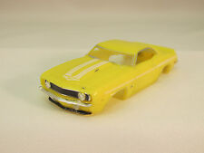 Model Motoring Yellow W/White Stripes '69 Yenko Shell ~ New~Fits Aurora Tjet