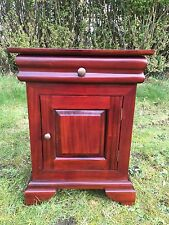 Qulaity Solid Mahogany French Period Sleigh Bed Side table RRP £299
