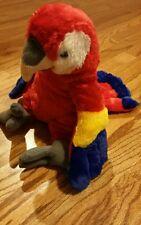 """2005 Animal land  Plush  RED PARROT 15""""Macaw Stuffed Animal Bird.  #1"""