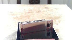 Colibri hub  Men's Colibri Stainless & onyx Money Clip lmc102200  msrp $55