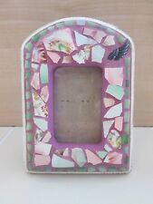 Awesome Mosaic Tile Crafted Small Picture Photo Frame Pink Unique Posternak
