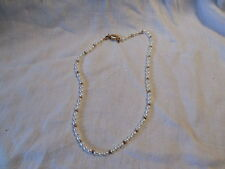 """Freshwater pearl white beaded necklace with 925 sterling claps 20.5"""""""