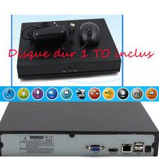 Enregistreur IP VideoSurveillance NVR pour 4 caméra IP & disque 1TO
