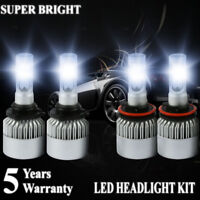 9006 HB4 9005 HB3 LED Headlight Bulbs 4000W 600000LM Hi//Lo Beam Headlamp 6000K