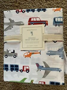 POTTERY BARN KIDS Brody Vehicles QUEEN 4 Piece Sheets Set NEW