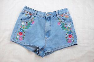 SPELL Wanderlust Denim Shorts, Aus. Size 8/M