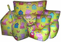 Peppa Pig Seaside Yellow Children's Character Bean bags, Bean Chair, Kids Sofas