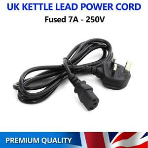 3 Pin UK Kettle Lead Power Cable Plug Cord PC TV for Samsung LG Sony Panasonic