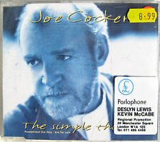 Joe COCKER CD The Simple Things 3 TRACK PROMO With A Little - LIVE + PROMO Stkrs