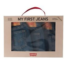 Levis Boys 3 Pack Denim Box Set Baby to Toddler My First Jeans 12 18 24 m
