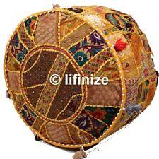 2Pc Bohemian Patchwork Ottoman Pouf Cover Vintage Chair Bean Bag Footstool Decor