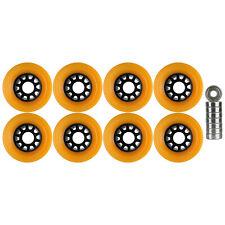 Quad Wheels Derby Roller Skate 65mm x 44mm Orange With Bearings