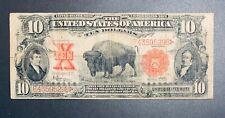 *Rare* 1901 Bison Large $10 Ten Dollar Note