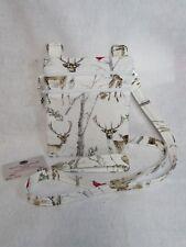 Winter Wonderland in the Forest Deer, Bird Fabric Crossbody Bag w/adj strap