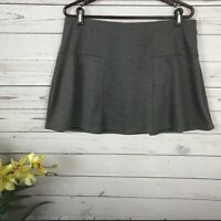 Gap Solid Gray Skater Mini Skirt Women's Size Large