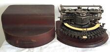 Antique Hammond 12 Circular Typewriter With Original Wood Case Serial # 91122