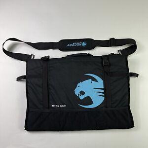 ROCCAT Tusko Flat Screen Widescreen Monitor Travel Bag BLACK Blue