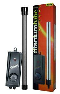 ViaAqua 100 watt Submersible Titanium Aquarium Heater Adjustable Temperature