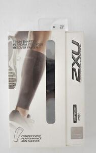 2XU Performance Run Compression Calf Guards Sleeves Unisex M Grey/Black