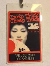 Cheap Trick authentic 2013 Vip Laminated Backstage Pass Budokan 35th Anniversary