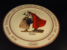 "NORMAN ROCKWELL Hallmark 1980 Christmas ""WARM THOUGHTS"" Decorative Plate VA EXC!"