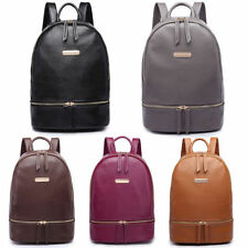 Zip Faux Leather Outer Handbags with Inner Dividers Backpack