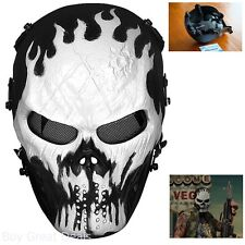 OutdoorMaster Mask Skull Skeleton Airsoft BB Gun CS Full Face Protect Paintball