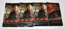 The Lord Of The Rings Trading Card Pack Lot of 4 NEW