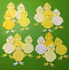 4 Farm Chicks (Rare Breeds) Spring Easter Die Cuts(Scrapbook/Cards)