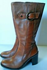 2234c97c2 Matisse Brown Leather Knee High Side Zipper Boots Size 7 1/2 M