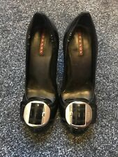 Ladies Prada Block Heel Shoe Size UK 4 (37)