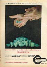 E- Publicité Advertising 1959 Le Plastique Grosfillex