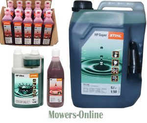 Stihl 2 Stroke Oil HP Super Ultra 100ml One Shot 1 or 5 Litre Mineral Synthetic