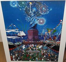 "MELANIE TAYLOR KENT ""STATUE OF LIBERTY"" HAND SIGNED SERIGRAPH"